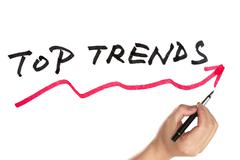top trends curve - stock photo