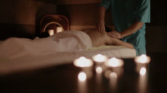 Spa massage Stock Footage