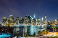 Stock Photo of manhattan skyline at night