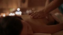 Weakening massage Stock Footage