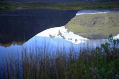 glacial reflection - stock photo