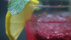 Invigorating cocktail Stock Footage