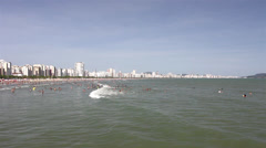 Santos city - Coast of Sao Paulo - 2013 Stock Footage