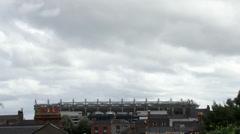 Croke Park moody sky with bird flyby - stock footage