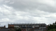 Stock Video Footage of Croke Park moody sky with bird flyby
