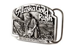 Buckle of alaska belt Stock Photos