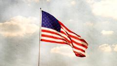 Flag on canvas Stock Footage