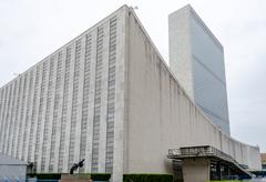 united nations headquarters - stock photo