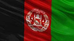 Flag of Afghanistan Stock Photos