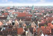 Stock Photo of View over Nuremberg old town, Germany