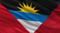 Flag of Antigua and Barbuda Stock Photos