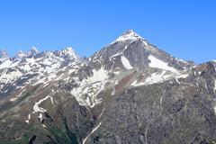 Rockies in caucasus region in russia Stock Photos