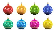 Stock Illustration of Set of color Christmas balls
