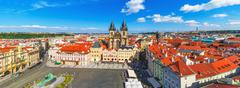 Panorama of the Old Town Square in Prague, Czech Republic Stock Photos