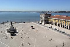 commerce square, lisbon, portugal - stock photo