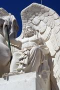 detail of the arch at augusta street, lisbon, portugal - stock photo