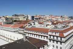 baixa, lisbon, portugal - stock photo