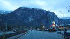 Squamish, BC. Sea to Sky highway. Stock Footage