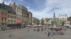 The Grand Place, Lille, France Stock Footage