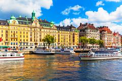 Old Town in Stockholm, Sweden - stock photo