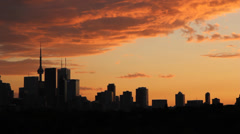 Toronto Orange Sunset. Timelapse. Stock Footage