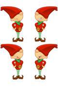 Cartoon Red Elf Stock Illustration