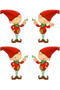 Cartoon Red Elf Stock Illustration