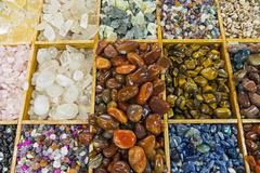 Semiprecious stones background Stock Photos
