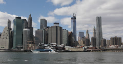 Ultra HD 4K New York City Downtown Cityscape One World Trade Center Company NYC Stock Footage