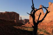 Sunset in Arches National Park Stock Photos