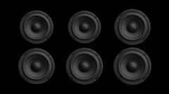 Speakers Beating Abstract Background for Music Stock Footage