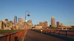 Downtown Minneapolis, Minnesota in the morning - stock footage