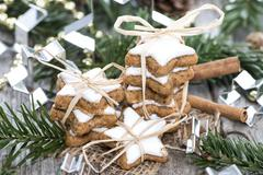 Christmas sweets (cinnamon cookies) Stock Photos
