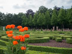 gardens at het loo palace, netherlands - stock photo