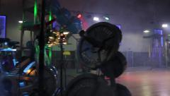Gym Equipment Fog Smoke Stock Footage