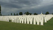 Stock Video Footage of CWGC Tyne Cot Cemetery, Zonnebeke, West-Vlaanderen, Flanders, Belgium