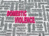 3d concept diagram wordcloud illustration of domestic violence Stock Illustration