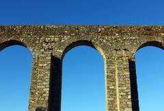 Aqueduct, evora, portugal Stock Photos