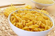 Stock Photo of uncooked pasta