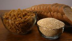 Whole Grains Wood 2 Stock Footage