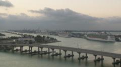 Miami Citiscape Stock Footage