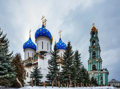 old russian church - stock photo
