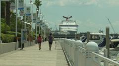 Tampa Riverwalk Stock Footage