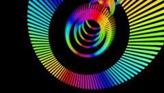 Rainbow ring sliced Stock Footage