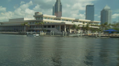 Tampa Water Taxi Stock Footage