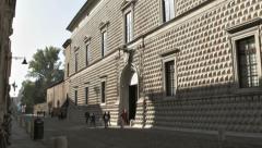 0136 Palazzo dei Diamanti in Ferrara, Italy Stock Footage