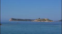 Mamula island, border Stock Footage
