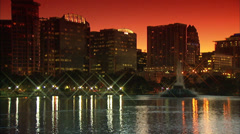 Orlando Lake Eola Stock Footage