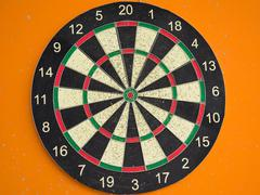 The darts - stock photo
