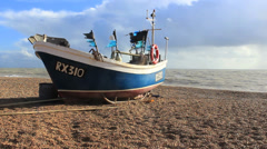 Boat on Sea Shore - stock footage